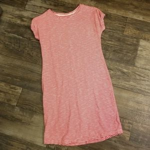 GAP Red and White striped dress - XS